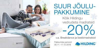 Sleepwell Hilding -20% madrats voodi Voodike.ee