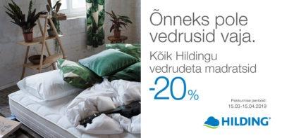 Sleepwell madratsid Hilding -20% Voodike.ee