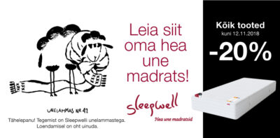 Sleepwell -20% Voodike.ee