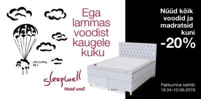 Sleepwell -20% voodid madratsid voodike.ee