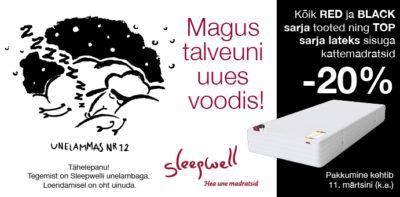Sleepwell -20% madratsid ja voodid talvekampaania, Voodike.ee